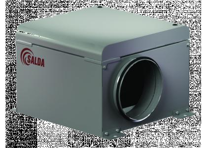 Вентилятор канальный круглый Salda AKU 125 D в изолированном корпусе